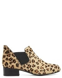 Agent leather chelsea ankle boots leopard pony medium 90434