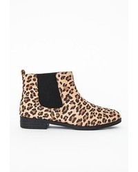 Missguided patsy flexi sole chelsea boots leopard print medium 90433