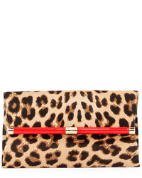 440 calf hair envelope clutch bag leopard medium 114203