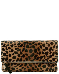 Clare Vivier Clare V Leopard Haircalf Fold Over Clutch