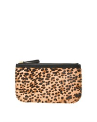 Pierre Hardy Leopard Print Calf Hair And Leather Pouch
