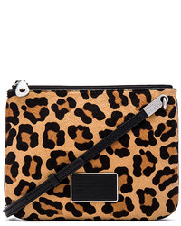 Marc by Marc Jacobs Ligero Leopard Double Percy Crossbody