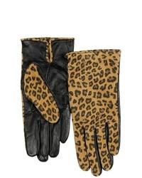 Cire by Grandoe Printed Touchtec Gloves Sheepskin Leopard Black