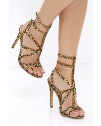 Liliana Bound To Appear Black Caged Heels