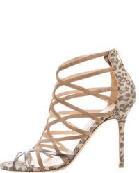 Jimmy Choo Metallic Suede Sandals