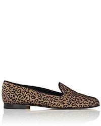 Manolo Blahnik Dipla Leopard Brocade Loafers