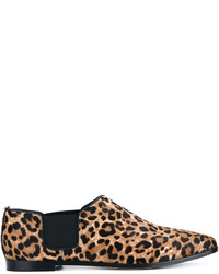 Jimmy Choo Glint Leopard Print Calf Hair And Leather Loafers