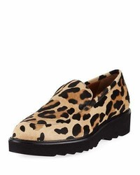 Kelsey metallic leopard calf hair loafer medium 6448395