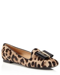 Salvatore Ferragamo Leopard Print Calf Hair Loafers