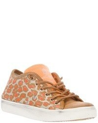 Leather crown leopard print sneaker medium 40732
