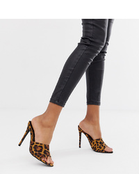 Missguided Pointed Heeled Mules In Leopard