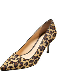 Bradshaw calf hair point toe pump camello medium 183518