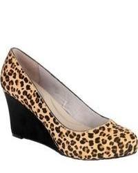 Rockport Seven To 7 85mm Wedge Pump Leopard Suede High Heels