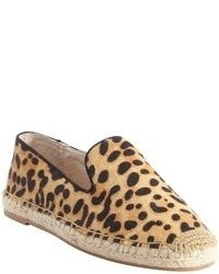 Steve Madden Leopard Calf Hair Lanii Jute Detail Slip On Sneakers