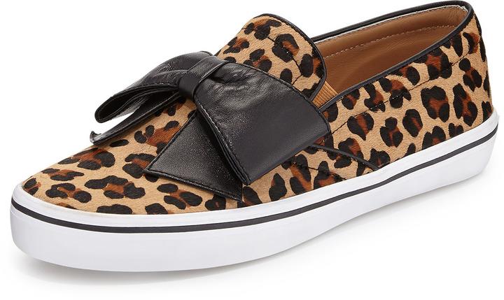 615e1e1597c6 ... Kate Spade New York Delise Leopard Print Bow Slip On ...