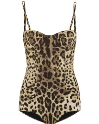 Dolce & Gabbana Leopard Print Swimsuit