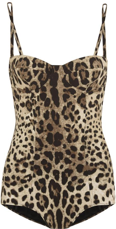 165d992d153 Dolce & Gabbana Leopard Print Swimsuit, $745 | NET-A-PORTER.COM ...