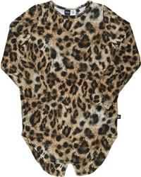Molo Kids Molo Kids Leopard Print T Shirt Brown Size 12 Yrs