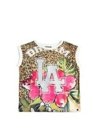 Sleeveless Jungle Cotton Jersey T Shirt