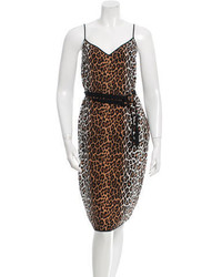 Silk leopard print dress medium 3644664
