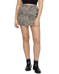 BDG Urban Outfitters Leopard Twill Miniskirt