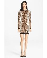 RED Valentino Leopard Jacquard Knit Dress