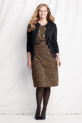 Plus Size Sleeveless Pattern Pont Welt Pocket Dress