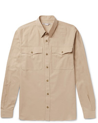 Stella McCartney Button Down Collar Cotton Piqu Shirt