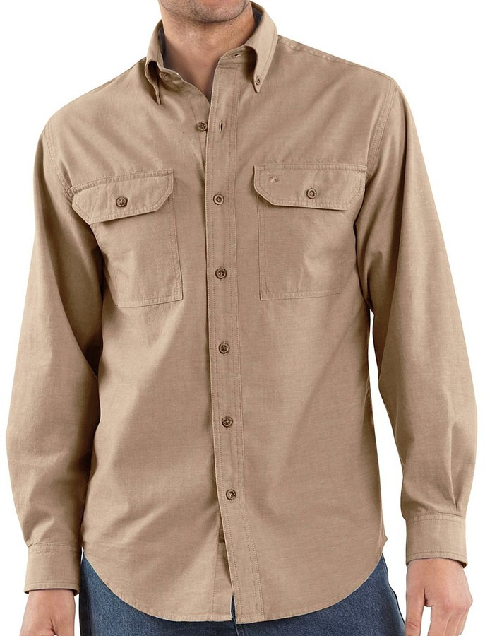 Carhartt Chambray Work Shirt Long Sleeve | Where to buy & how to wear