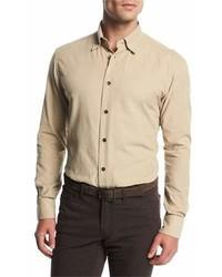 Corduroy sport shirt tan medium 6984704