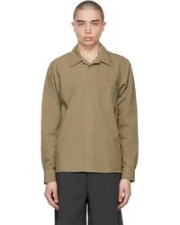 Acne Studios Khaki Boxy Cropped Shirt