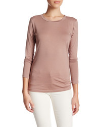 Susina Long Sleeve Crew Neck Tee