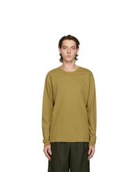 Issey Miyake Men Taupe Cotton Long Sleeve T Shirt