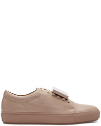 Acne Studios Taupe Adriana Turnup Sneakers