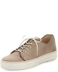 Stuart Weitzman Holistic Satin Low Top Sneaker