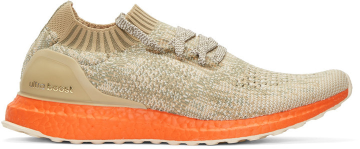 factory authentic af1fe 5a813 $200, adidas Originals Taupe Orange Ultra Boost Uncaged Sneakers