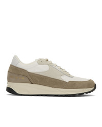 Woman by Common Projects White And Brown Track Classic Sneakers