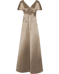 Silk satin maxi dress mushroom medium 1251781