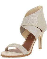 Tilly stretch mid heel sandal platino medium 524294