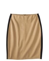 Mossimo Ponte Color Block Pencil Skirt Camelblack Xl