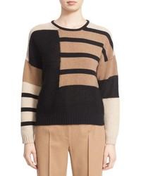 Tan Mohair Crew-neck Sweater