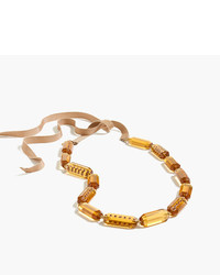 J.Crew Lucite And Pav Necklace