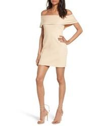 Tan Off Shoulder Dress