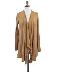 Alice + Olivia Alice Olivia Tan Long Draped Open Front Cardigan