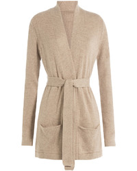 Closed Belted Cardigan With Wool And Cashmere
