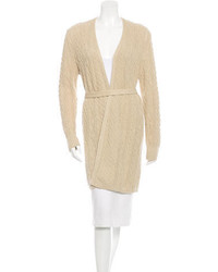 Loro Piana Cable Knit Belted Cardigan