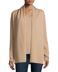 Neiman Marcus Cashmere Collection Modern Cashmere Open Cardigan