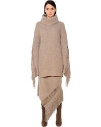 Oversize fringed cashmere wool sweater medium 3734186