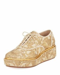 Tory Burch Arden Fabric Platform Oxford Beige