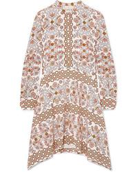 Tory Burch Celeste Printed Silk Mini Dress